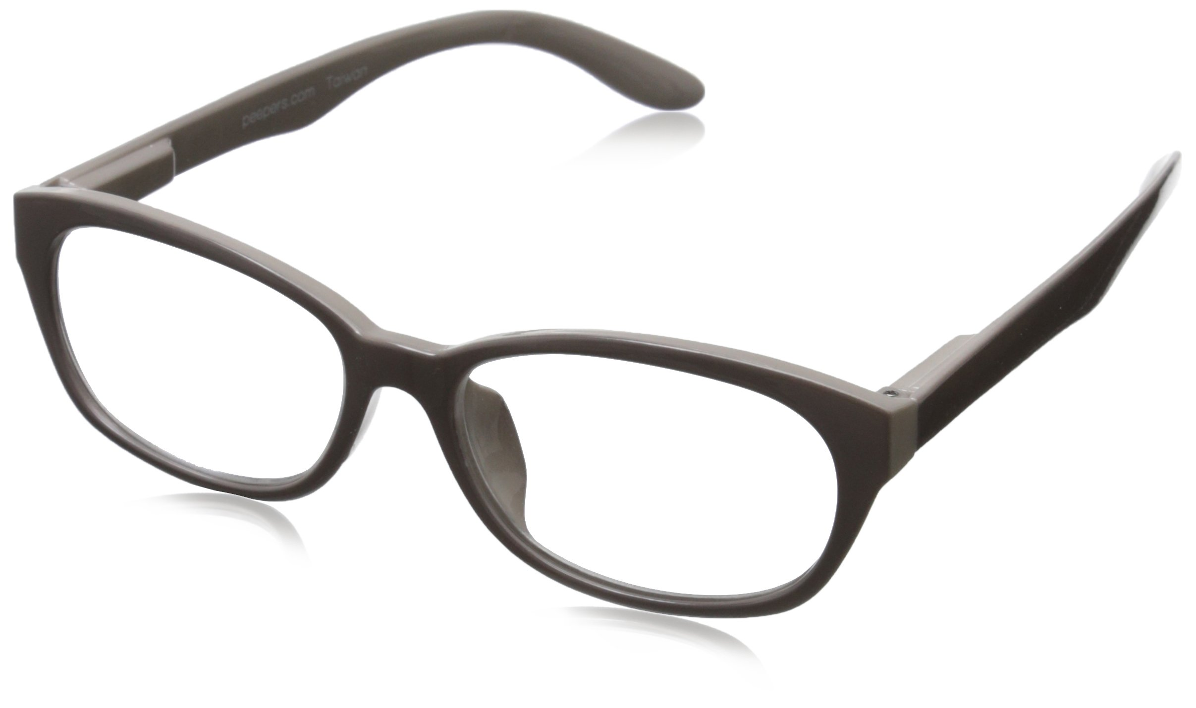 Peepers Good Morning, Charlie Oval Reading Glasses,Grey,+2
