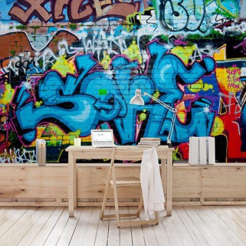 Non Woven Wallpaper U2013 Colours Of Graffiti U2013 Mural Wide Wallpaper Wall Mural  Photo Feature Wall Art Wallpaper Murals Bedroom Living Room