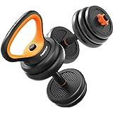 AKT Multifuncional Mancuerna como Barra/Kettlebell/Push-up Support Pesas para el Hogar Ajustables en Peso Equipo de Entrenamiento Brazo de Entrenamiento Muscle Fitness, Negro