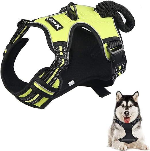 Mascota pila doble correa del pecho del arnés del perro ajustable ...