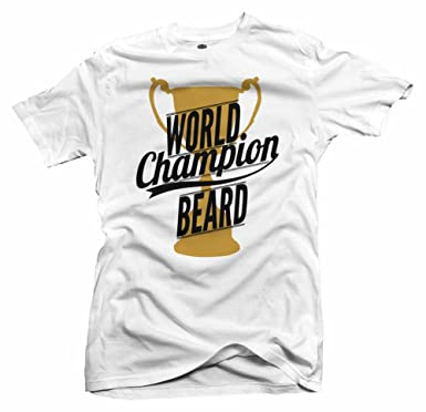 9196f85db49c Amazon.com: WORLD CHAMPION BEARD White Slim Fit: Clothing