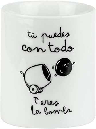 Mr. Wonderful Taza, Porcelana, Blanco: Amazon.es: Hogar