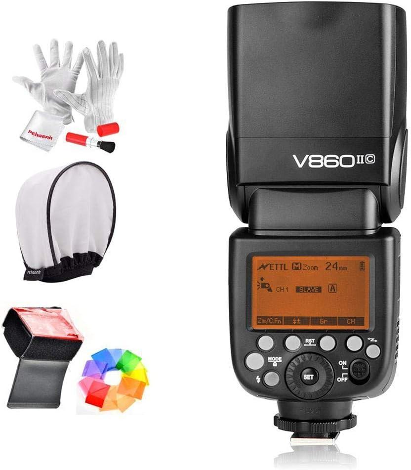Godox Ving V860IIC 2.4G GN60 E-TTL HSS 1/8000s Li-on Battery Camera Flash Speedlite 1.5S Recycle Time 650 Ful Power Pops for Canon EOS Cameras