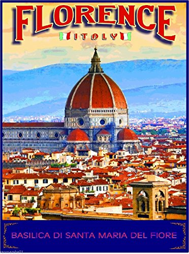 - A SLICE IN TIME Florence Italy Basilica di Santa Maria del Fiore Travel Advertisement Wall Decor Collectible Poster Print. Measures 10 x 13.5 inches