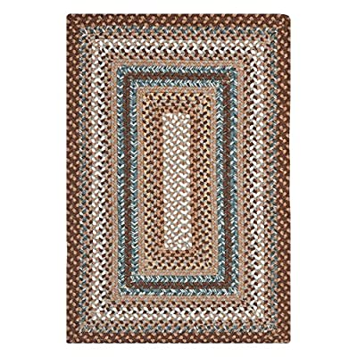 Safavieh Braided Collection BRD313A Hand Woven Brown and Multi Area Rug