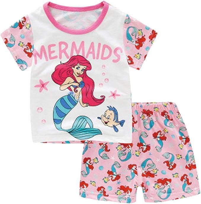 Sirena de Pijama de algodón de Dibujos Animados Enfant Ropa de ...