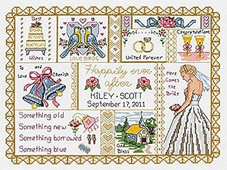 Janlynn 1-Piece Wedding Collage Counted Cross Stitch Kit