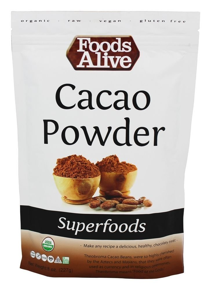 Foods Alive Organic Dominican Cacao Powder Raw -- 8 oz