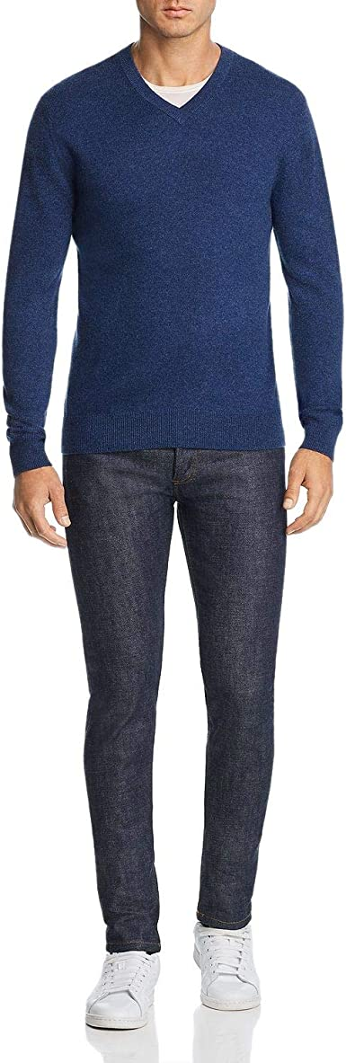 Bloomingdale's Mens Cashmere V Neck Sweater XX Large Pacific