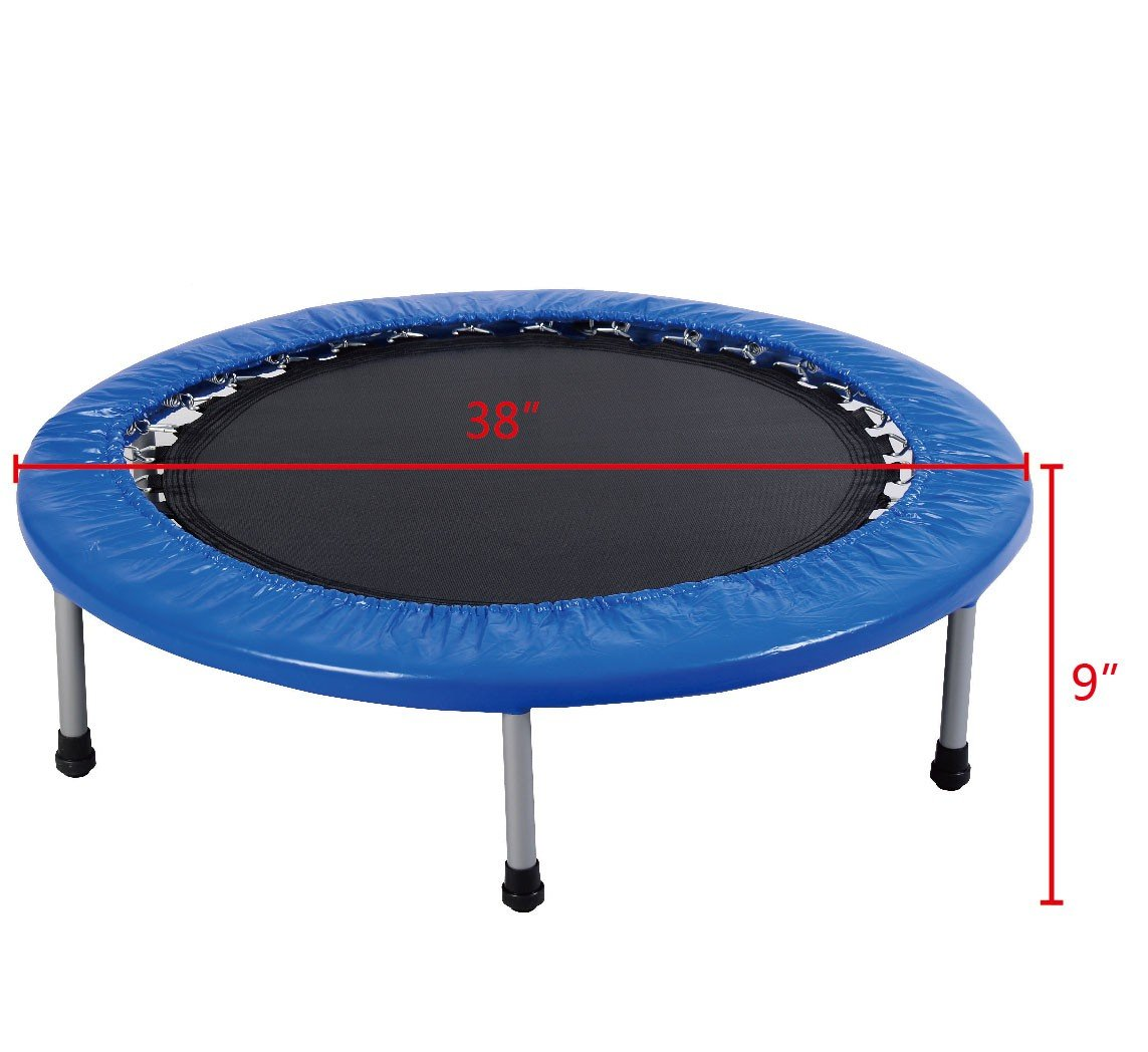 CHOOSEandBUY 38'' Mini Band Exercise Trampoline with Padding & Springs New W Kids Outdoor D5 H1 Indoor Inch Fun Jump