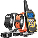 FunniPets Dog Training Collar, Waterproof Dog Shock Collar with Remote 2600ft Control Range E Collar for 2 Dogs with 4…