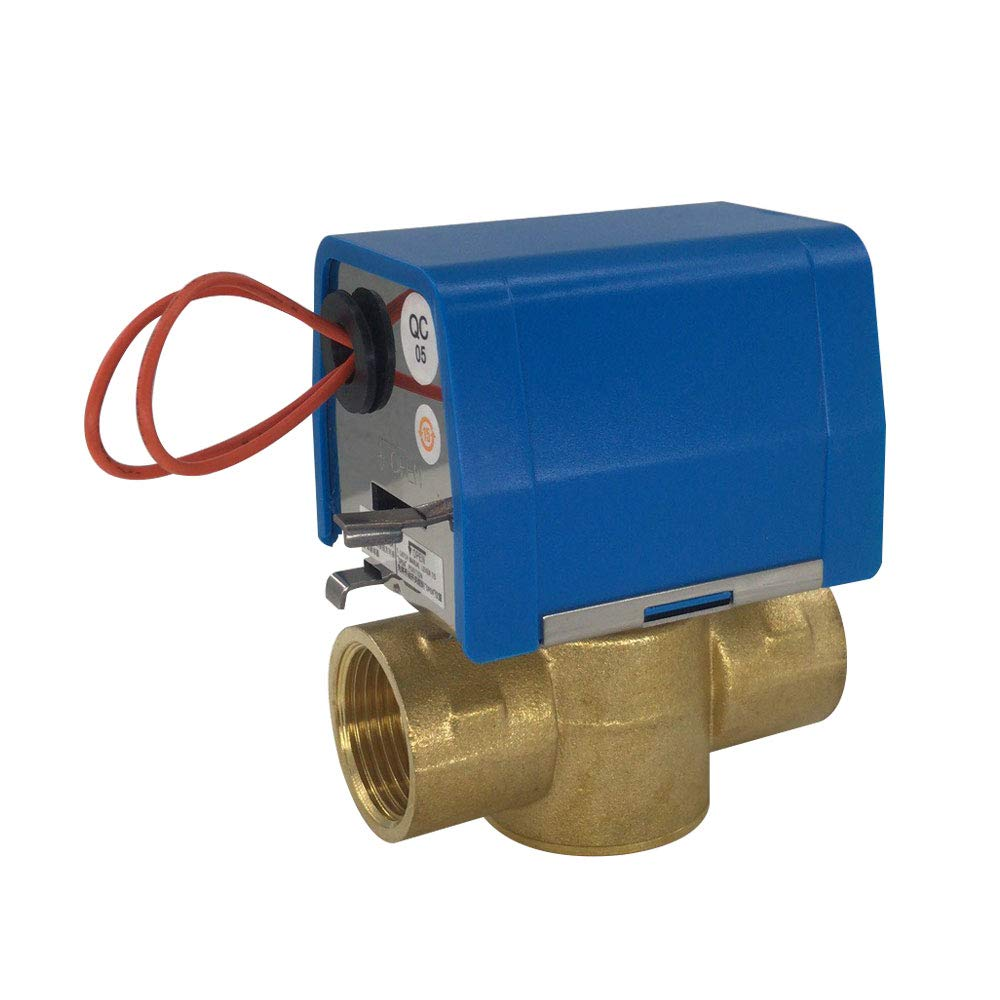 3//4, DN20 JIRUIDE Brass Two-line 3 Way Electric Valve 1//2 3//4 1 powper AC24 AC110V AC220V