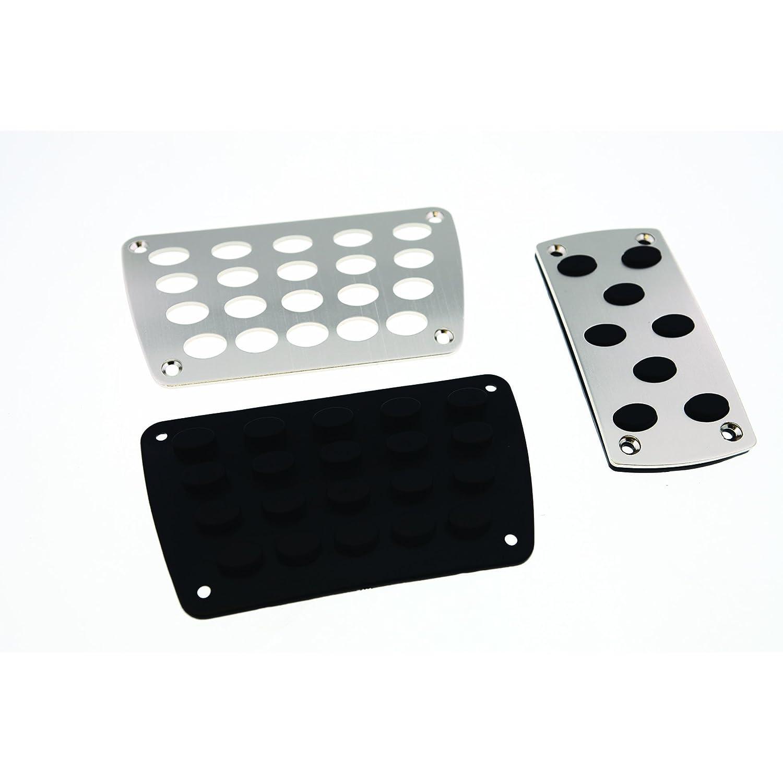 Pilot Automotive Pilot PM-2314S3 Titanium Look Pedal Pads for Automatic Transmissions 2 Pieces