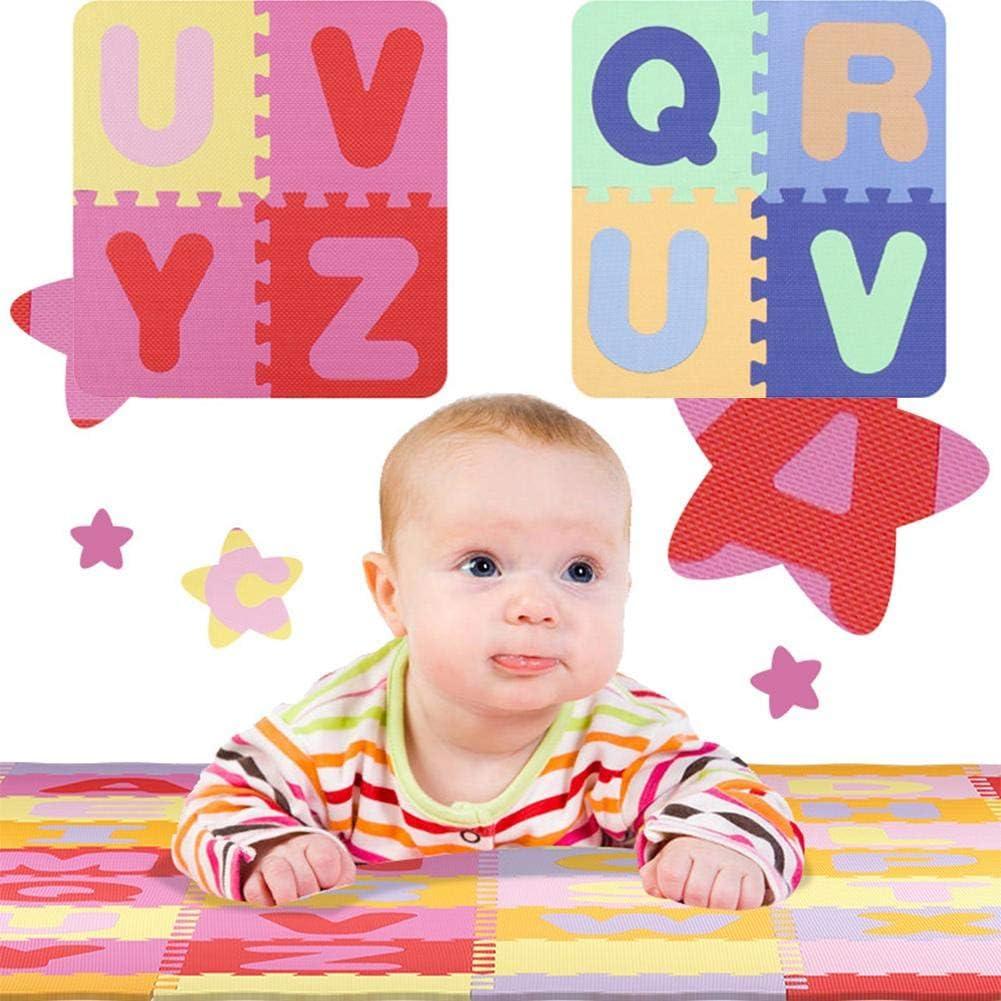 54 St/ück Meetgre inder Schaumstoffmatte Schaumstoffmatte f/ür Babys Ab 3 Monaten 30 x 30 cm pro St/ück Antibakteriell Rot