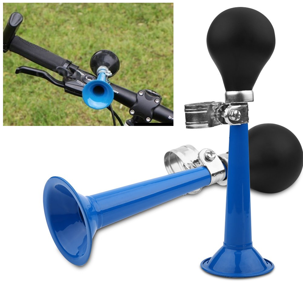 Farbe : Blau 2.2 Zoll Fahrrad Hupe Fahrradkingle Fahrrad Retro Air Horn Ballhupe