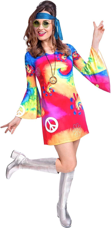 Disfraz de Mujer de espíritu Libre de los años 60 Talla 10 a 12 ...