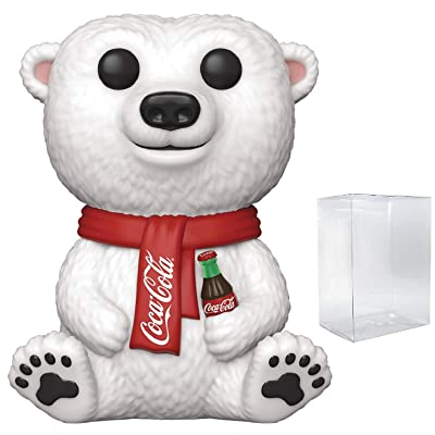 Pop Ad Icons: Coca-Cola - Polar Bear Pop! Vinyl Figure (Includes Compatible Pop Box Protector Case): Toys & Games