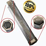 Pellet Smoker Tube 12'' Perforated Stainless Steel BBQ Smoke Generator - Add Smoke Flavor to All Grilled Foods Easily and Safely