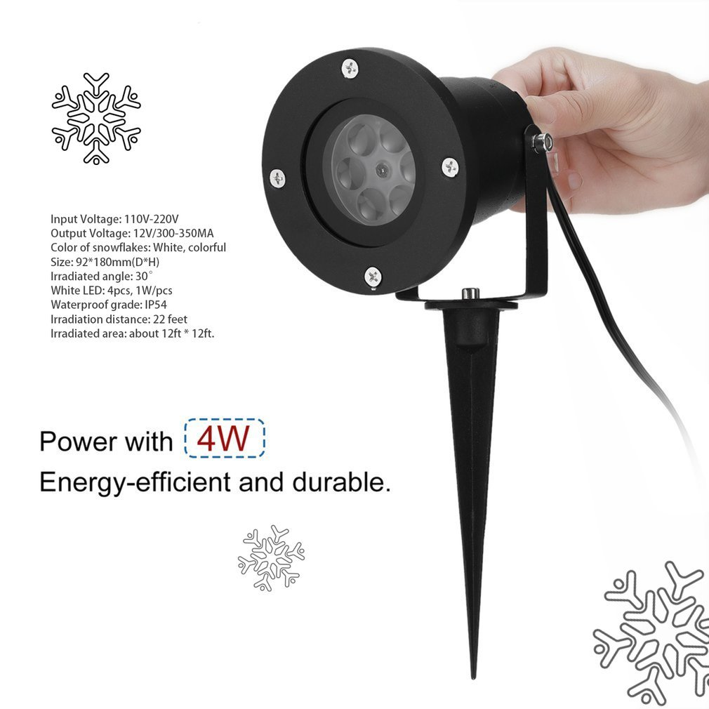 Halloween Snowflake Decorations Outdoor Waterproof LED Light Projector White Moving Snowflake for Landscape Garden Holiday Party Decoration Jozocy Outdoor Light Projector