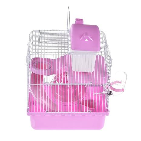 Pequeñas jaulas de plástico para mascotas, hámster de alambre ...