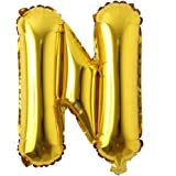 """16"""" inch Single Gold Alphabet Letter Number Balloons Aluminum Hanging Foil Film Balloon Wedding Birthday Party…"""