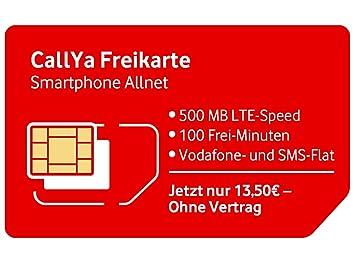 Callya Sim Karte.Callya Smartphone Allnet Prepaid Nano Sim Karte 3 Flatrates Lte Nur 13 50 Euro Für 4 Wochen Ganz Ohne Vertrag