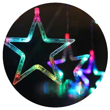 Lianqi 2M/6.6ft LED luces de la cortina de la estrella, luces de