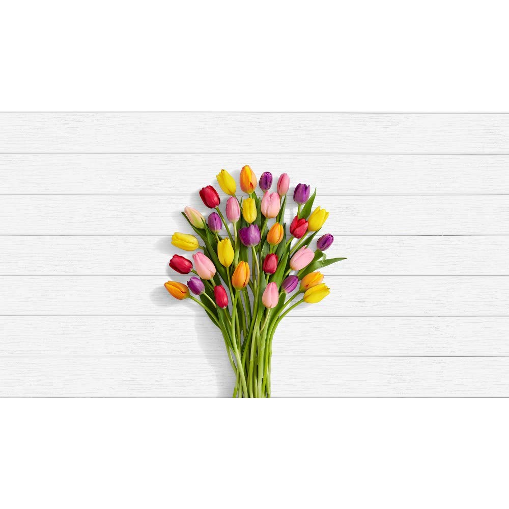 Proflowers Multi Colored Tulips 30 Multi Colored Birthday Tulips W Free Clear Vase Flowers