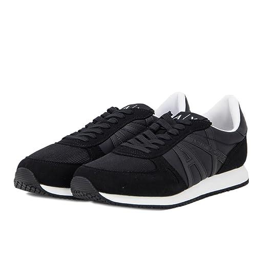 Armani Exchange Herren Schuhe Sneaker 955011 8P420 Schwarz