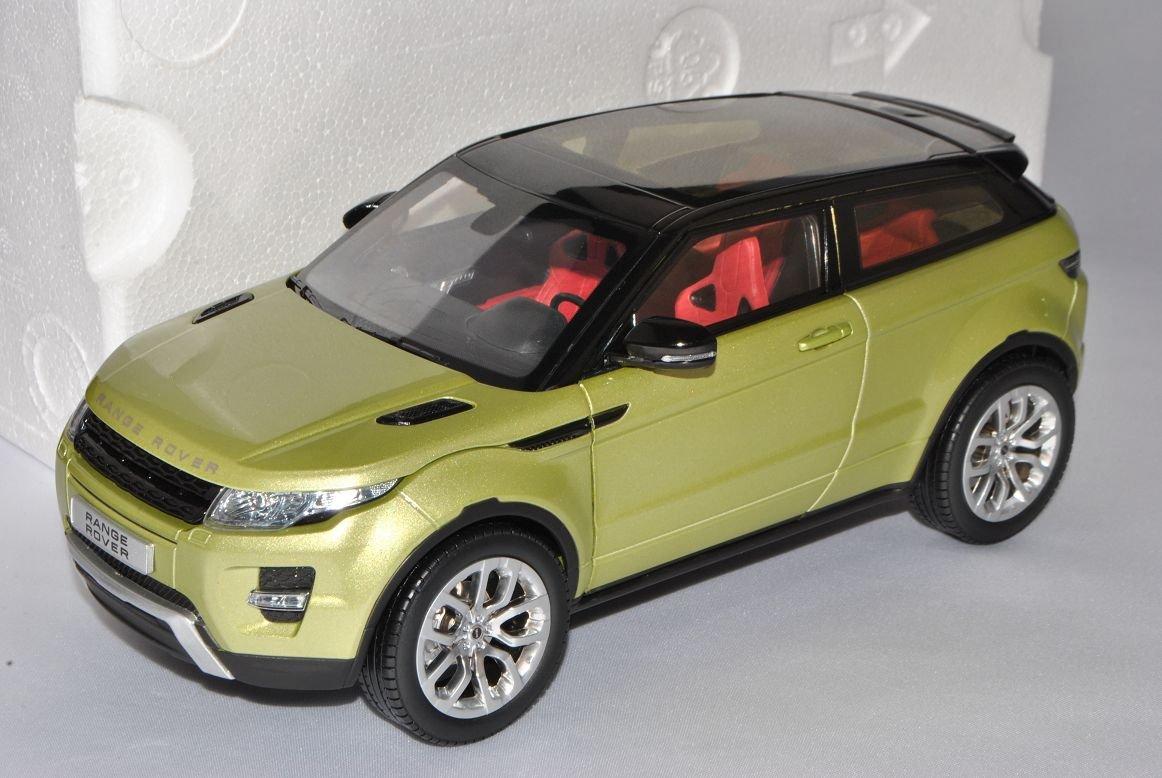 GTA Welly Land Rover Range Rover Evoque 3 Türer Grün Ab 2011 1/18 Modell Auto mit individiuellem Wunschkennzeichen