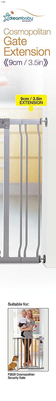 Dreambaby F1981 Cosmopolitan Gitterverl/ängerung 9cm grau