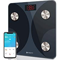Etekcity Digital Weight, Smart Bluetooth Body Fat Bathroom Scale Tracks 12 Key Compositions, 6mm-Thick Glass, 400 lbs…