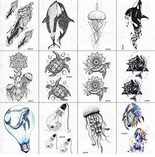 Tatuajes De Tortuga 3D Pegatinas Mujeres Cuerpo Brazo Cuello ...