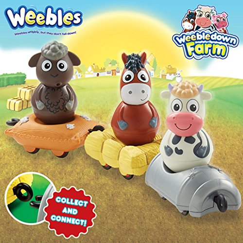 Daisy la Vache Figurine Culbuto 5 cm Weebledown Farm Weebles