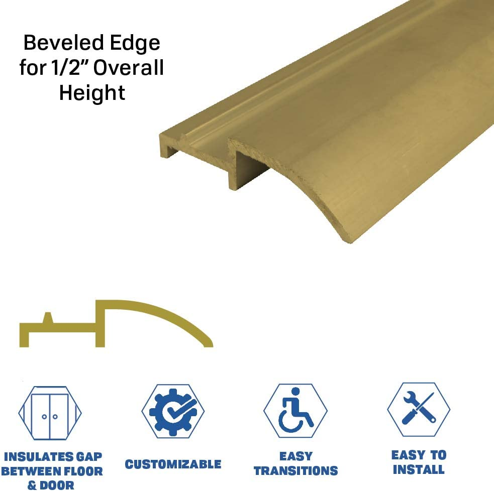 Beveled Edge for 1//2 Overall Height 386BR 36