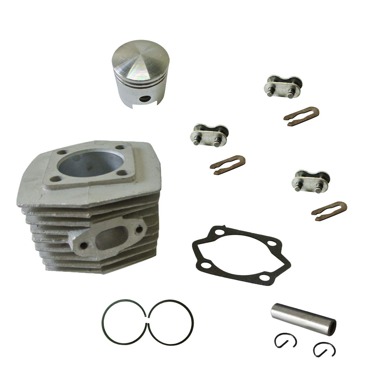 HGC Cylinder/&Piston/&Piston Ring/&Pin/&415 Chain Master Link For 66cc 80cc 2 Stroke Engine Motorized Bicycle Bike