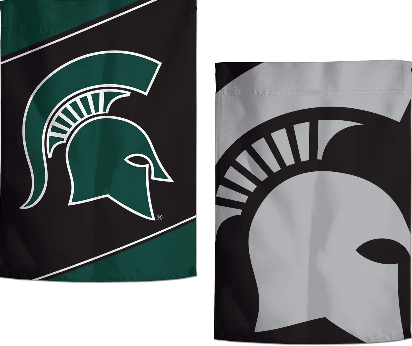 2 Sided Action Stripes and Charcoal Edition 12.5x18 inches WinCraft Michigan State Spartans Garden Flag