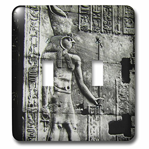 Scenes from the Past Magic Lantern Slides - Temple of Horus Relief Circa 1910 Vintage Egyptian Antiquities - Light Switch Covers - double toggle switch ()