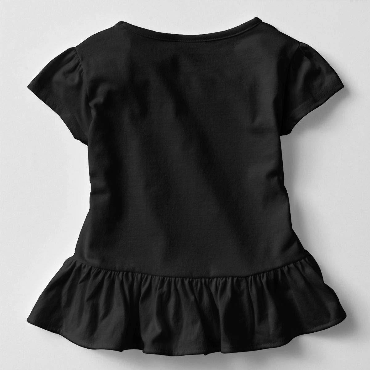 GNKTGBO2O Toddler Girls Tuxedo with Bow-tie 100/% Cotton T Shirts Short Sleeve Ruffle Tee Basic Tops