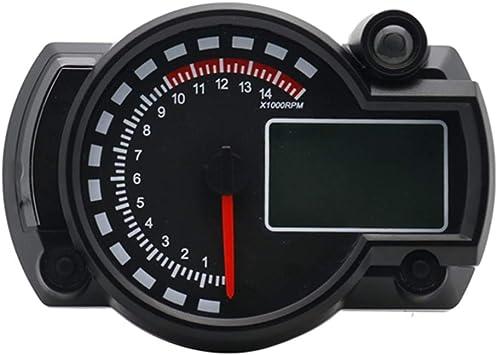 Toogoo 7 Farben Led Motorrad Rx2n Atv Lcd Digital Tachometer Tachometer Meter 15000rpm Auto