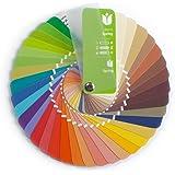 Paleta de color en formato abanico para el color tipo Primavera con 35 colores