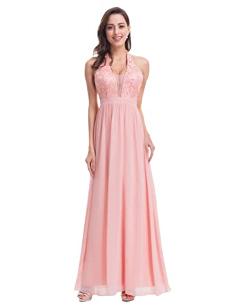 9a06db2e38 Ever-Pretty Womens Floor Length Deep V Neck Party Evening Dresses 07068 at Amazon  Women s Clothing store
