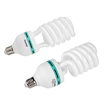 fotolampe deckey 2x 55w gla 1 4 hlampe fotoleuchte tageslichtlampe dauerlicht energiesparlampe e27 birne fa r fotostudio studioleuchte geschenk