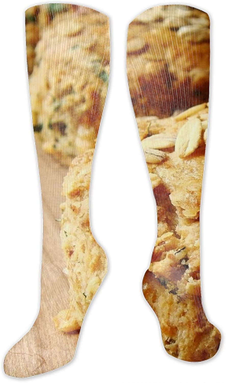Fruitcake Chocolate Batch Form Stockings Male&Female Autumn and Winter Over long Socks