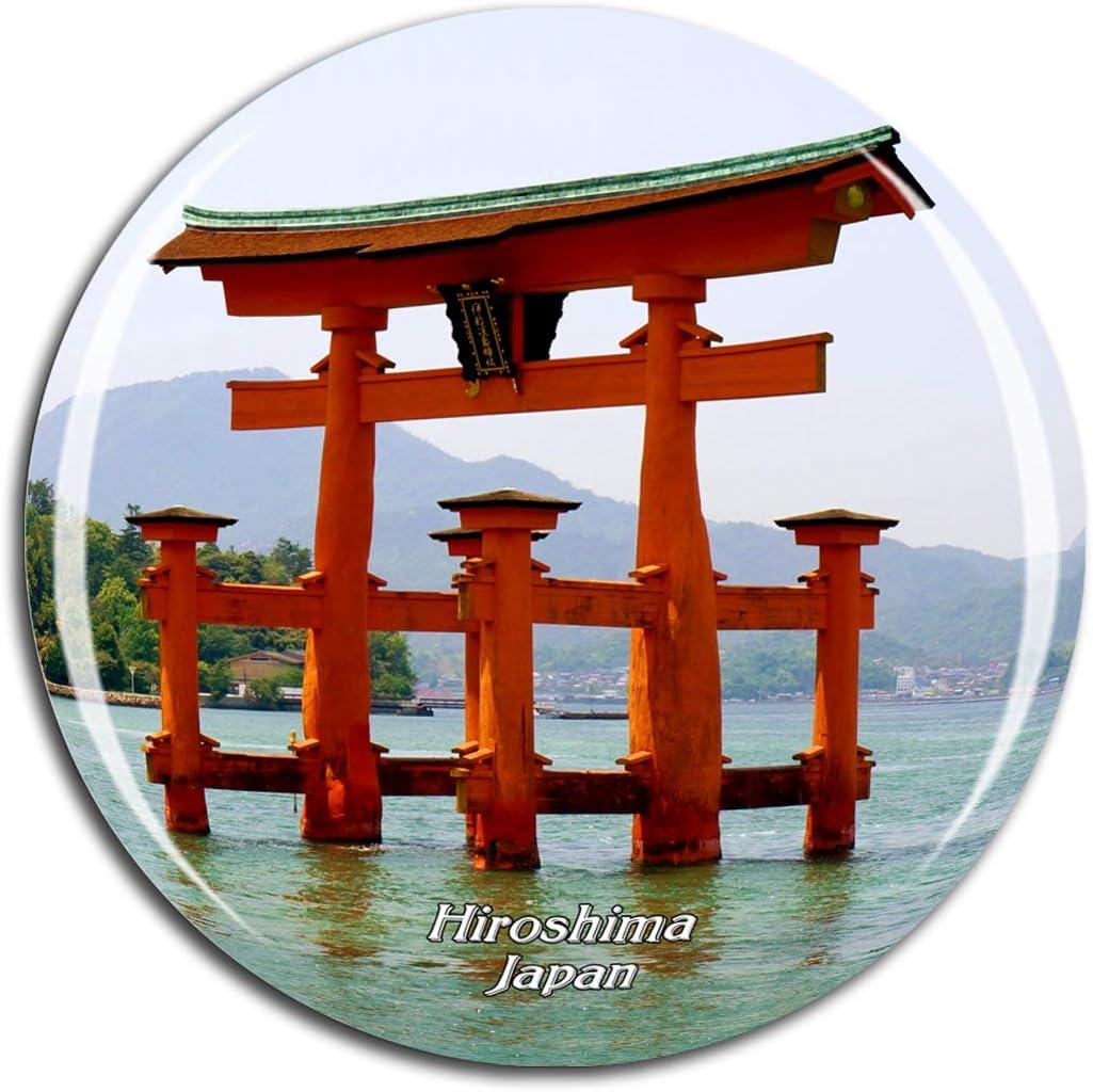 Weekino Japan Itsukushima Shinto Shrine Hiroshima Fridge Magnet 3D Crystal Glass Tourist City Travel Souvenir Collection Gift Strong Refrigerator Sticker