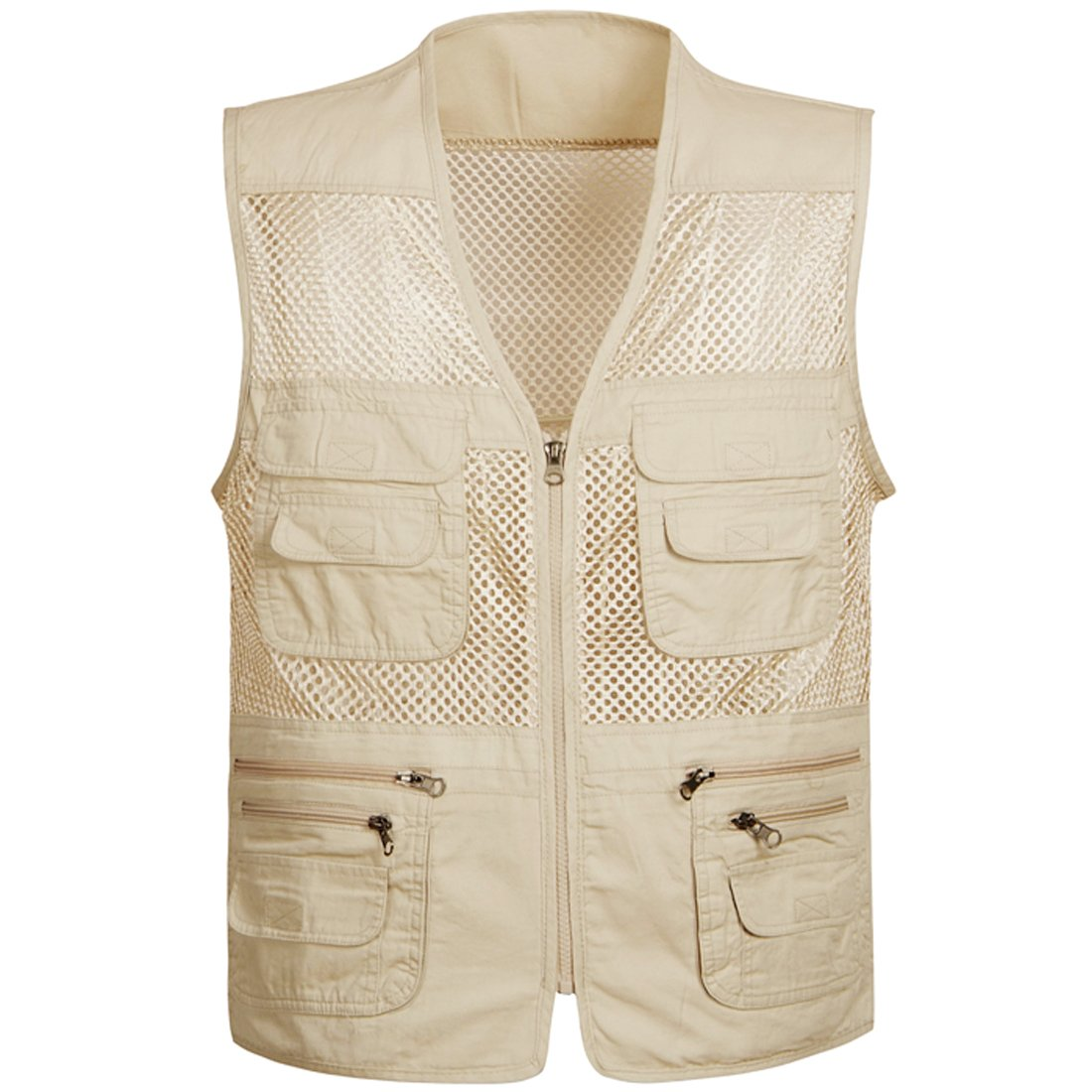 Partiss Men's Spring And Summer Fishing And Photography Work Vest Garment Mesh