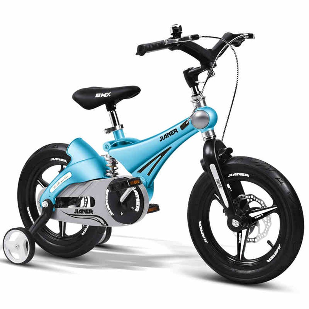 XQ- TY-107 Niña Y Niño 14/12/16 Pulgada Bicicleta A Prueba De Choques Plegable Bicicleta Para Niños - Azul Claro ( Tamaño : 16inch )