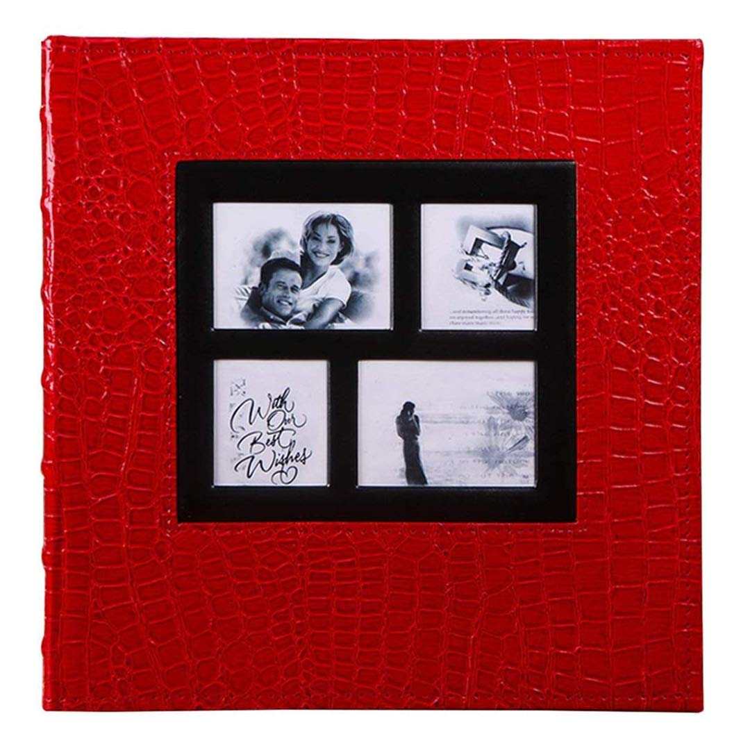 Trjyr Photo Albums - 6X4(4R) Interstitial PU Retro Mixed Photo Album, Large-Capacity 660 Sheets Home Wedding Baby Grow Memorial Book (Color : Red) by Trjyr Photo Albums