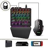 Delta essentials FO203 Combo Teclado y Ratón, Teclado mecánico Gaming Switch Azul Juegos, Adaptador Convertidor para…