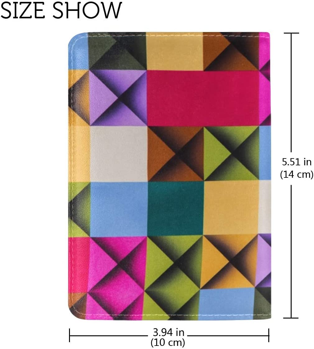 JiaoL Cells Colorful Texture Surface Leather Passport Holder Cover Case Travel One Pocket